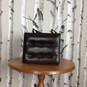 Vintage Koret Quilted Brown Leather Handbag